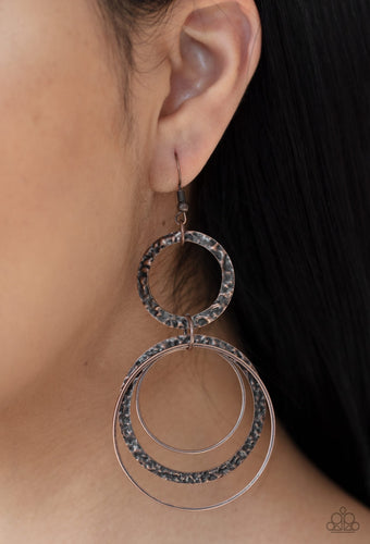 Paparazzi Earring - Eclipse Edge - Copper