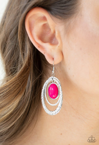 Paparazzi Earring - Seaside Spinster - Pink