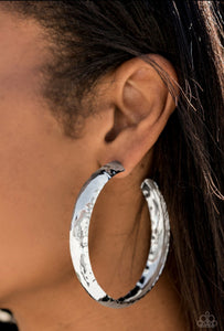 Paparazzi Hoop Earring - Check Out These Curves - Gold