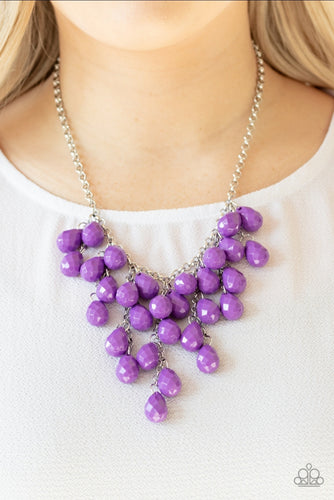 Paparazzi Necklace - Serenly Scattered - Purple
