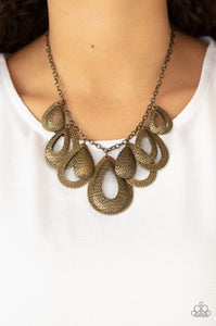 Paparazzi Necklace - Teardrop Tempest - Gold - New Release