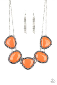 PAPARAZZI NECKLACE  - VIVA LA VIVID - ORANGE