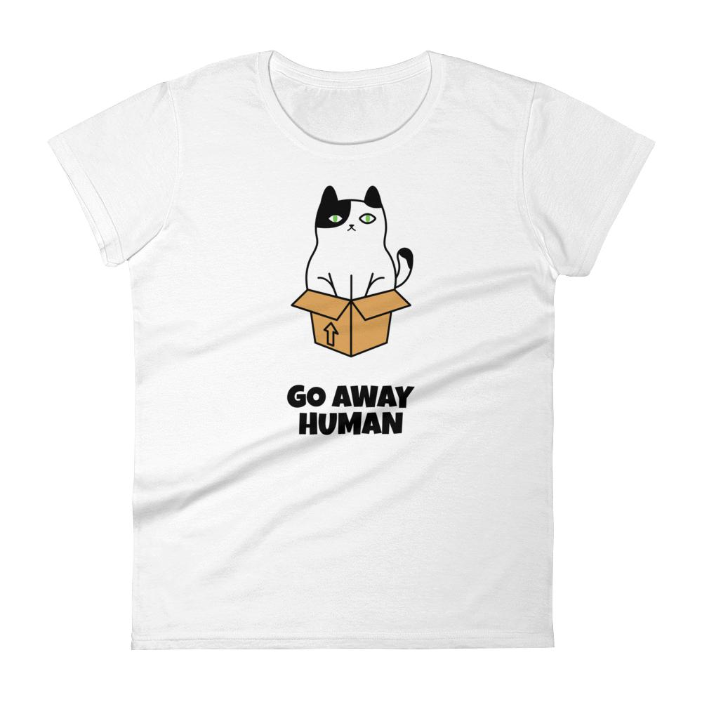 Go Away Human  Short Sleeve Graphic Tshirt Tees