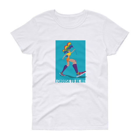 I Chose To Be Me Short Sleeve Graphic Tshirt Tees