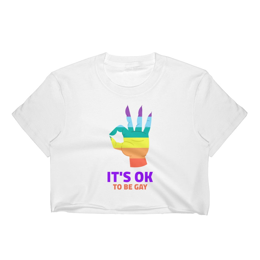 It's OK To Be Gay  Crop Top Graphic Tshirt Tees