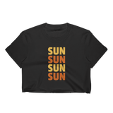 SUN SUN SUN Women's Crop Top-16MILLION-Black-S-16MILLION