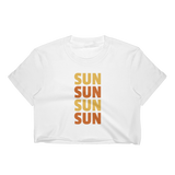 SUN SUN SUN Women's Crop Top-16MILLION-White-S-16MILLION