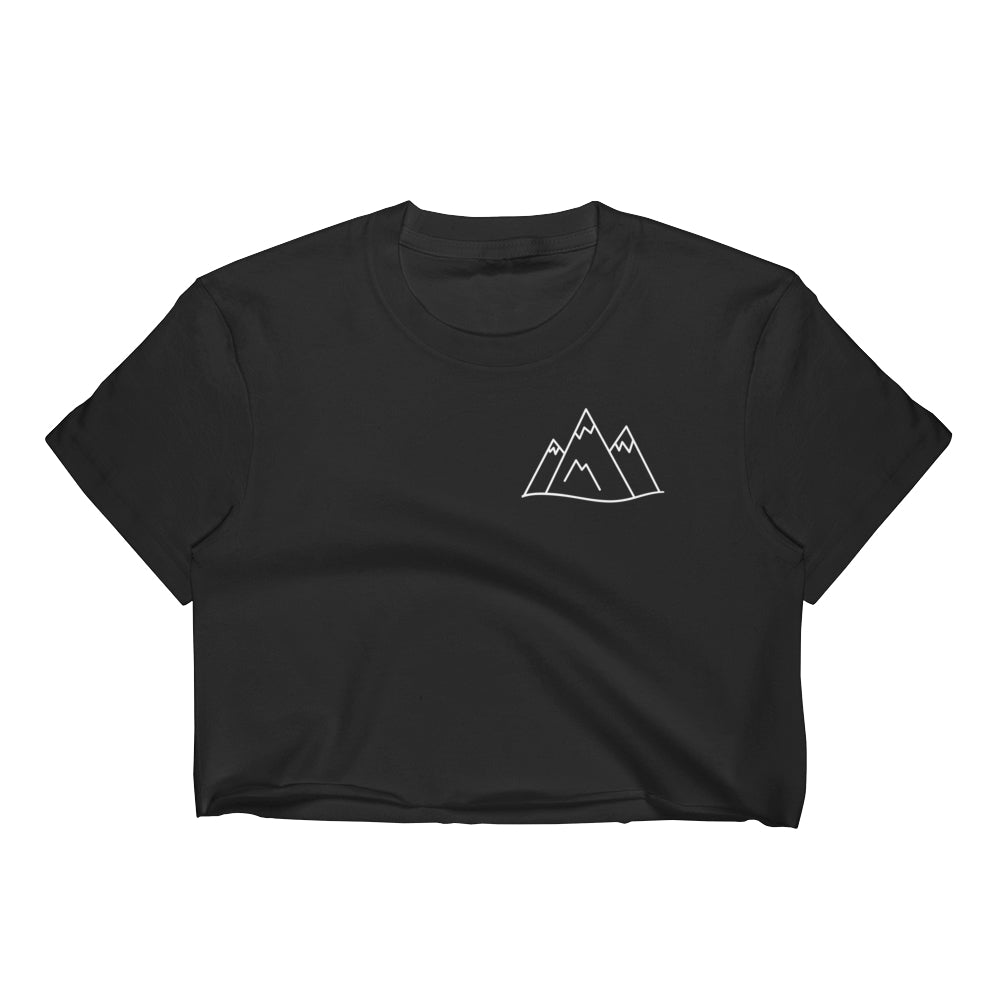 Mountain Women's Crop Top Graphic Tshirt Tees