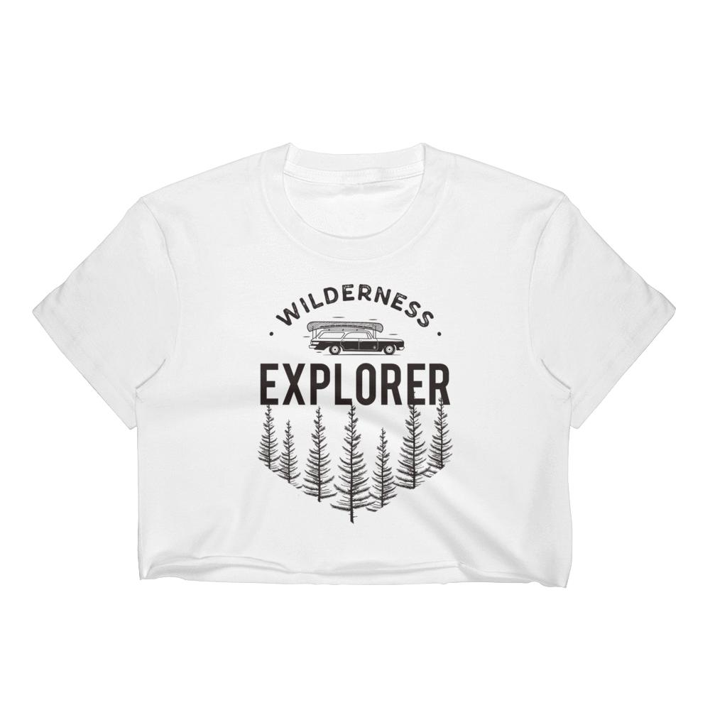 Wilderness Women's Crop Tops Graphic Tshirt