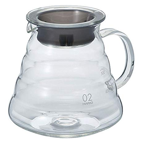 Hario V60 Glass Range Coffee Server (600ml, Clear) 02
