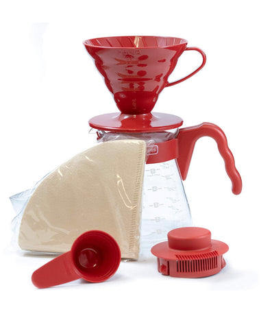HARIO V60 POUR OVER SET 02 - RED