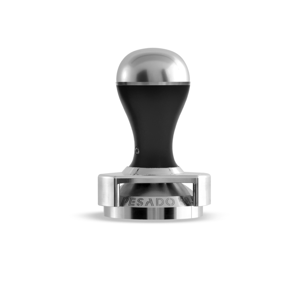 Tamper w/ Depth Adjuster - Black & Silver