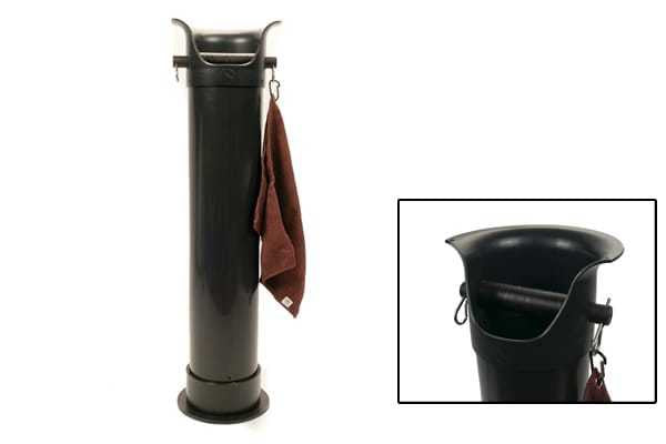 Crema Pro Floor Standing Knock-out Tube Black