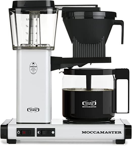 Moccamaster 10-Cup White Coffee Maker