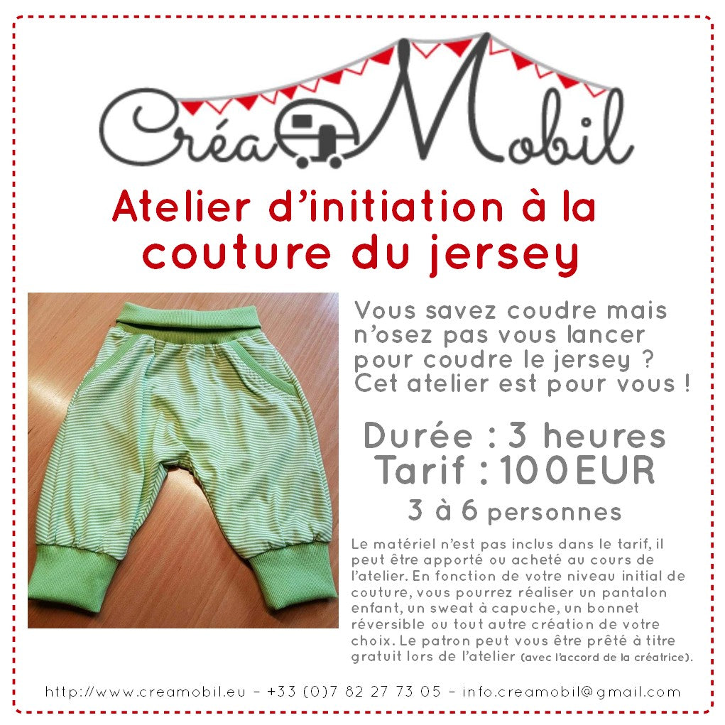 Atelier d'initiation à la couture du jersey