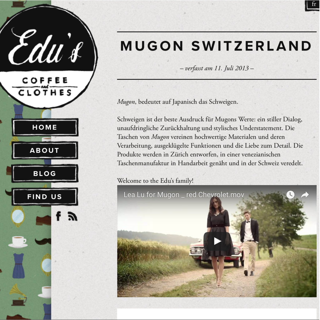 Edu's Clothing Blog mit Mugon Weekender