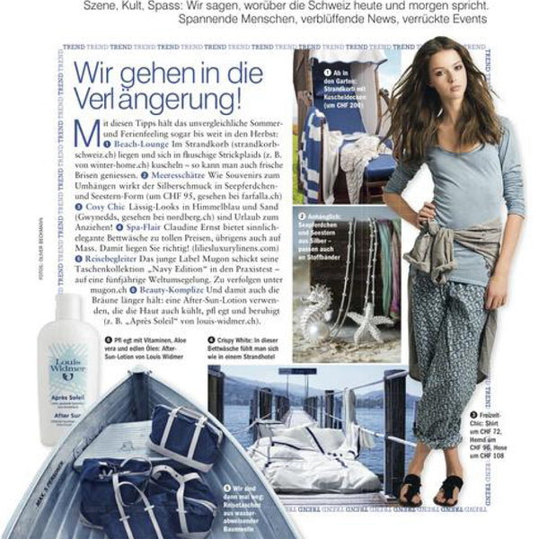 Freundin Magazin mit Mugon Navy Edition