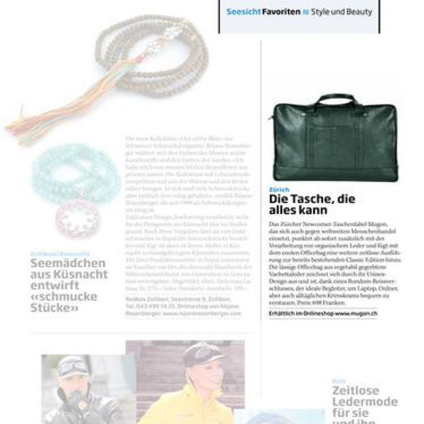 Seesicht Magazin mit Mugon Officebag