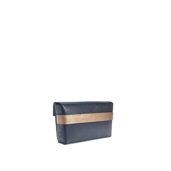 Stella Clutch Black-Purple