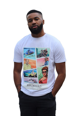 Unisex White Vice City Edition T-Shirt