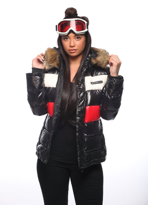 Woman's Premium Red Line Feather Down Jacket