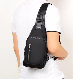 Commuter Leather Cross Body Bag - Black