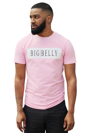 Essential 'BIGBELLY' Baby Pink T-Shirt