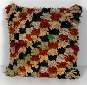 50x50cms Vintage Boucherouite rug cushion cover - kilimfurniture