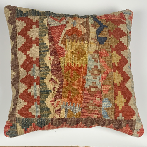 Kilim patchwork cushion