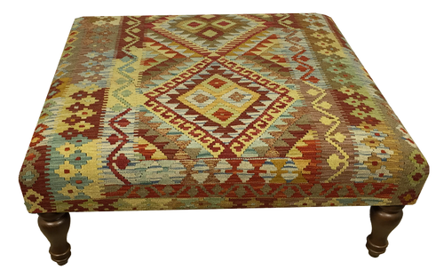 100cmsx100cms Kilim Table Stool - kilimfurniture