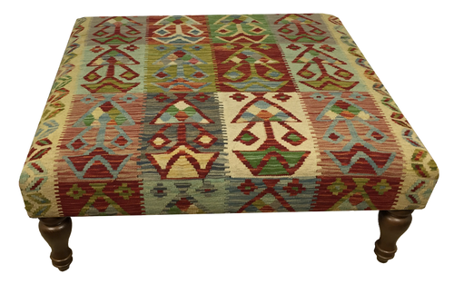 100cmsx100cms Kilim Table Stool SOLD - kilimfurniture