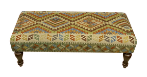 120cmsx45cms Kilim Bench Stool SOLD - kilimfurniture