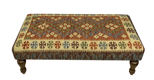 120cmsx60cms Kilim Table Stool - kilimfurniture