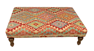 120cmsx75cms Kilim Table Stool. SOLD - kilimfurniture