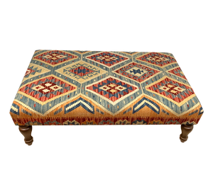 120cmsx75cms Kilim Table Stool - kilimfurniture