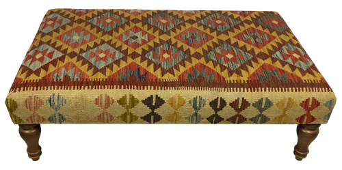 120cmsx75cms Kilim Table Stool SOLD - kilimfurniture