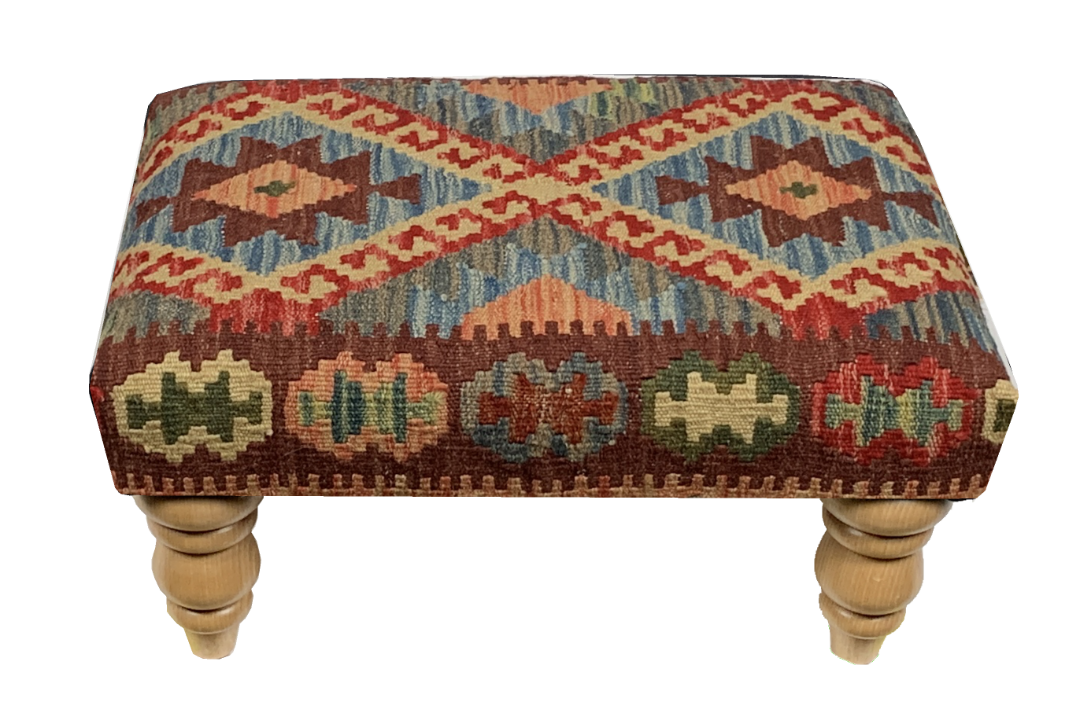 50cmsx35cms Kilim Stool - kilimfurniture