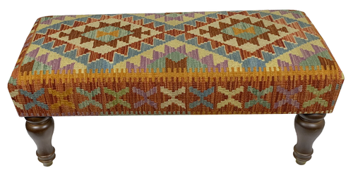 90x40cms Kilim Bench Stool SOLD - kilimfurniture