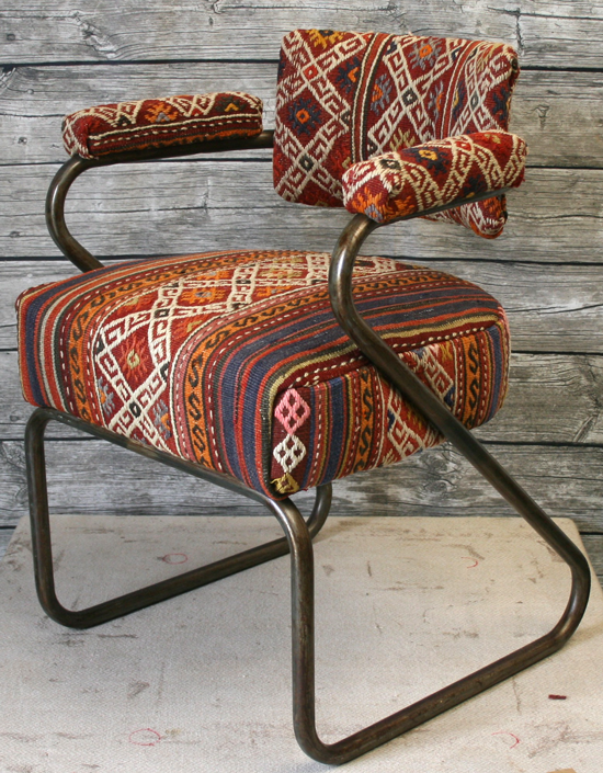Vintage  Metal Chair - kilimfurniture