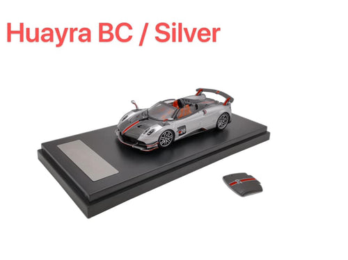 (Pre Order) 1:64 LCD Pagani Huayra BC Roadster Silver Launch color