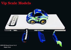 VIP 1:64 Scale Porsche 911 930 RWB Q Car Royal Ocean Limited Edition