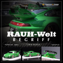 Load image into Gallery viewer, T&P 1:64 Porsche 911 993 RWB Green Rough Rhythm
