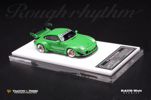 T&P 1:64 Porsche 911 993 RWB Green Rough Rhythm