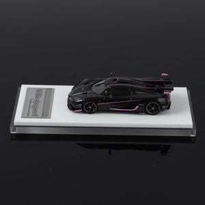 (Pre Order) VMB 1:64 Koenigsegg Agera One:1 Carbon/pink line Resin model