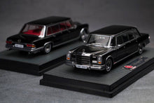 Load image into Gallery viewer, (Pre Order) 1/64 Mercedes-Benz 600 Pullman Black with Red interior
