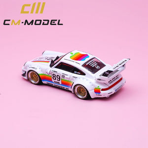 (Pre Order) CM Model 1:64 Porsche RWB Apple 930 with Opening Engine Bay