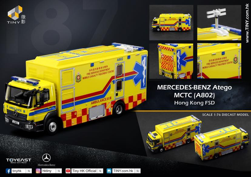 Tiny HK 1/76 Mercedes Benz Atego MCTC (A802) Fire Department Command Center
