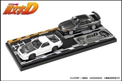 (Pre Order) Hi-Story 1/64 Initial D Mazda FC3S VS Nissan GT-R R32 with Diorama