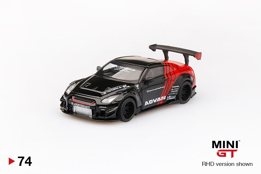 MiniGT 1/64 Japan Exclusive LB★WORKS Nissan GT-R (R35) ADVAN