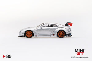 MiniGT 1/64 Taiwan Exclusive Nissan GT-R R35 Liberty Walk Magic Pearl